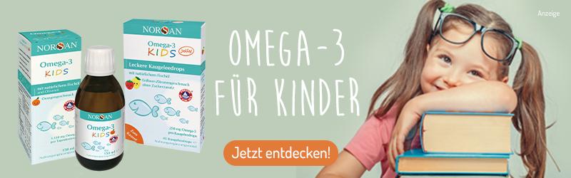 Omega-3 für Kinder, natürlich von Norsan.