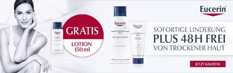 Eucerin UreaRepair - Sofortige Linderung von trockener Haut.