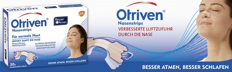 Otriven Nasenstrips - verbesserte Luftzufuhr durch die Nase!
