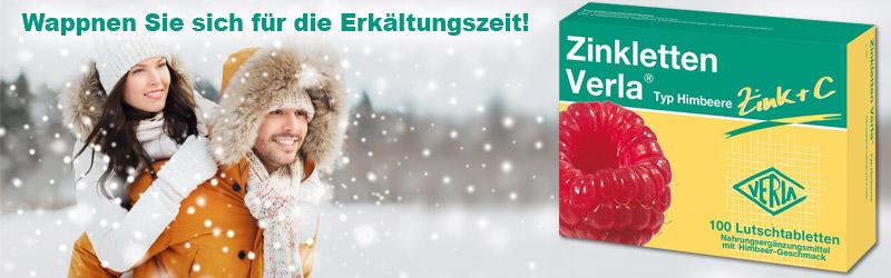 Zinkletten von Verla - Ideal in der Erkältungszeit!