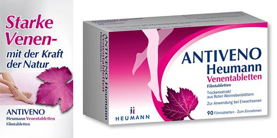 Antiveno mit der 3-fach Wirkung gegen Schwellungen, Schmerzen und Schweregefühl in den Beinen.