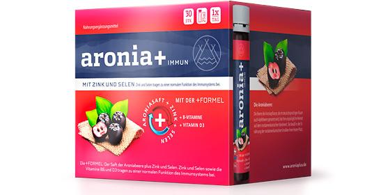 Aronia+ Immun. Die Immun-Formel mit dem Plus für Ihre Abwehrkräfte.