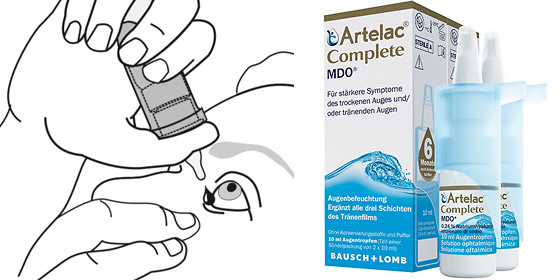 Die Komplettlösung bei allen Symptomen des trockenen und/oder tränenden Auges.