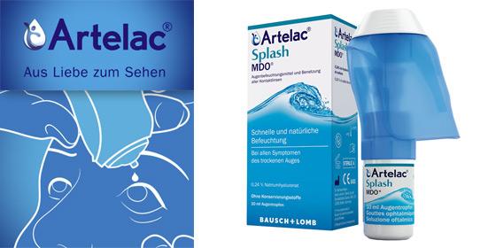 Artelac Splash ist die innovative unkonservierte Träne mit dem Inhaltsstoff Hyaluronsäure.