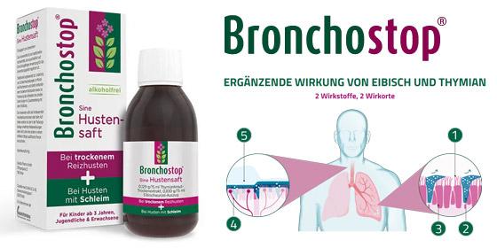 Egal, welcher Husten Sie bei Ihrer Erkältung gerade plagt: Bronchostop® Sine!