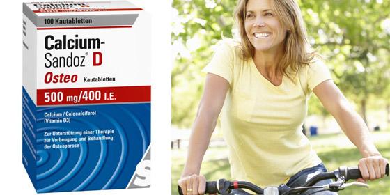 Calcium Sandoz – Bei nachgewiesenem Calcium- und Vitamin D3-Mangel sowie zur Vorbeugung und unterstützenden Behandlung von Osteoporose.