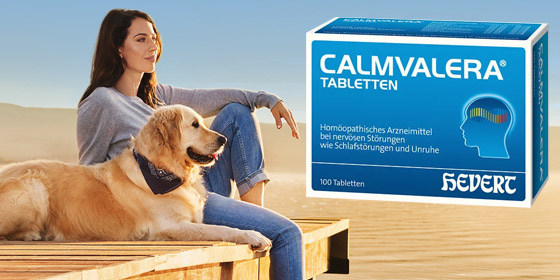 Befreien Sie sich von Anspannung und innerer Unruhe - Tag und Nacht. Calmvalera Tabletten!