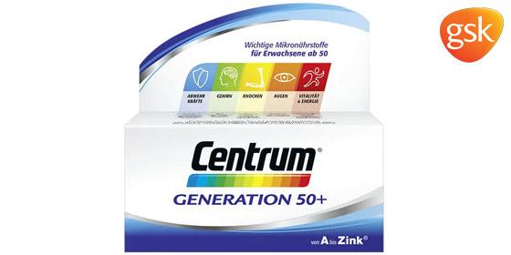 Die Mikronährstoff-Formel Centrum Generation 50+ ist speziell an die Nährstoffbedürfnisse von Best Agern angepasst