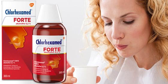 Chlorhexamed Forte. Zur vorübergehenden Keimzahlverminderung im Mundraum