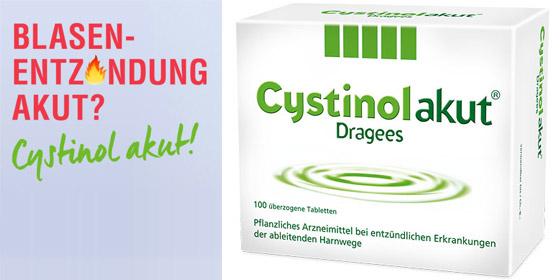 Cystinol akut Dragees – zur Behandlung des akuten, unkomplizierten Harnwegsinfektes.