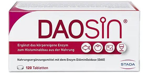 DAOSIN® unterstützt den Abbau von Histamin aus der Nahrung im Darm.