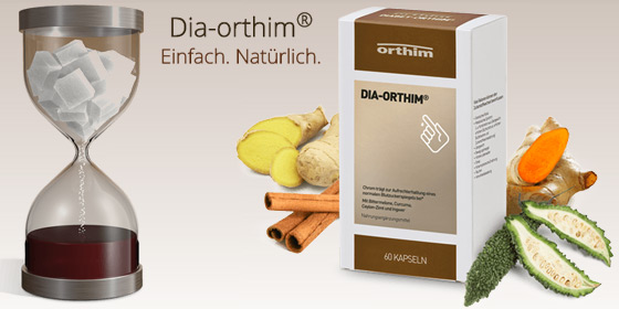 Dia-orthim® trägt mit Chrom zur Aufrechterhaltung eines normalen Blutzuckerspiegels bei.