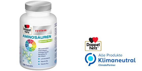 Doppelherz Aminosäuren essentiell kombiniert neun essentielle Aminosäuren mit den Vitaminen B6 und B12.