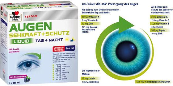 Doppelherz system AUGEN SEHKRAFT+ SCHUTZ TAG + NACHT