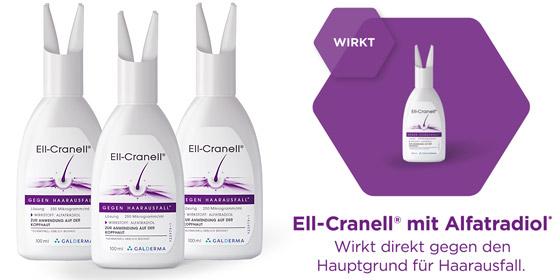 Unser Tipp bei Haarausfall: Das 3-Monatstherapie-Set Ell-Cranell 250 Mikrogramm/ml 3x100 ml!