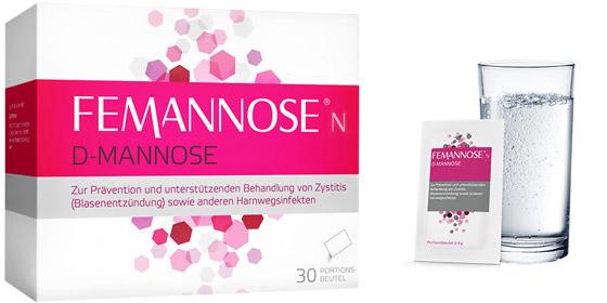 Femannose N: Vorbeugung und unterstützenden Behandlung von Blasenentzündungen