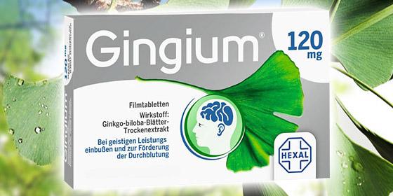 Gingium 120 mg: Mehr Sauerstoff für mehr Leistungsfähigkeit.