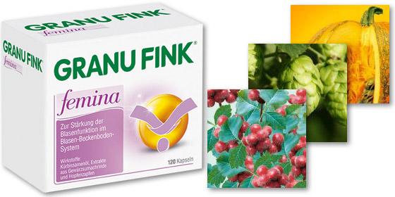 GRANU FINK® femina: Linderung von Beschwerden mit der Blase