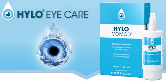Effektive und lang anhaltende Befeuchtung Ihrer Augen - Hylo-Comod.