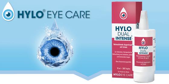 Hylo Dual intense Augentropfen für intensive und langanhaltende Befeuchtung chronisch trockener Augen mit entzündlicher Symptomatik.