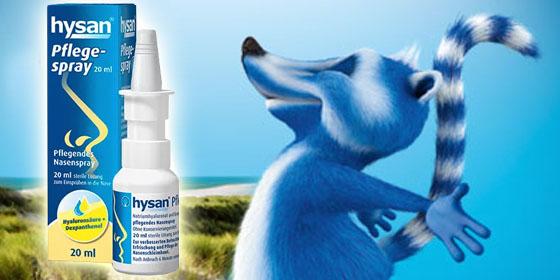 Hysan Pflegespray: Zur intensiven Befeuchtung der Nasenschleimhaut bei trockener und wunder Nase.