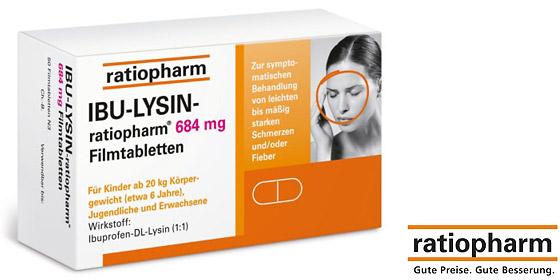 Ibu-Lysin-ratiopharm 684 mg Filmtabletten wirken schnell bei akuten Kopfschmerzen.