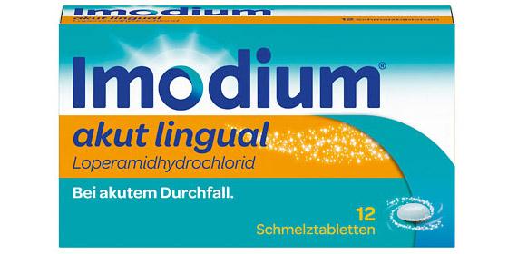 Imodium akut lingual Schmelztabletten schmelzen ohne Zugabe von Wasser auf der Zunge.