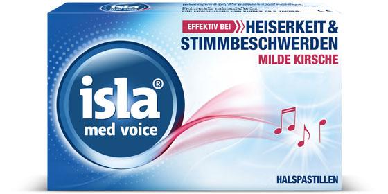 Isla med voice: bei starker Überbelastung der Stimme!