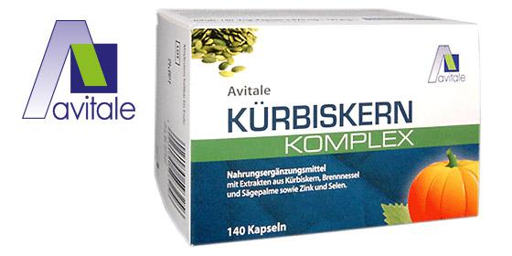 Traditionell bewährte Extrakte aus Kürbiskern , Brennnessel und Sägepalme sinnvoll kombiniert mit Zink und Selen.