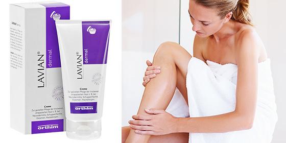 Lavian dermal Creme: Zur gezielten Pflege der trockenen, empfindlichen und strapazierten Haut.