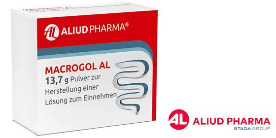 Macrogol AL 13,7 g Pulver zur Herstellung einer Lösung zum Einnehmen: Osmotisches Abführmittel.