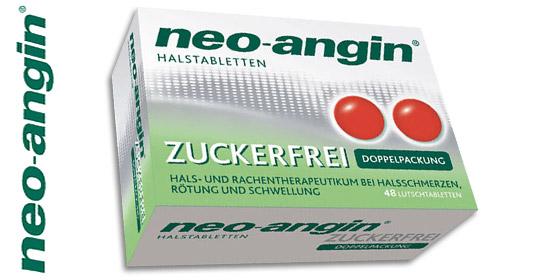 Neo-Angin - bekämpft den Halsschmerz von zwei Seiten!