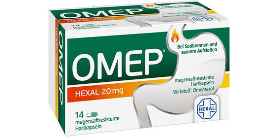 OMEP Hexal: Schützt langanhaltend & zuverlässig gegen Sodbrennen!