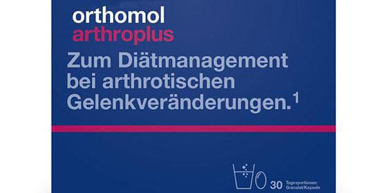 Orthomol arthroplus enthält wichtige Nährstoffe für Knorpel und Knochen.