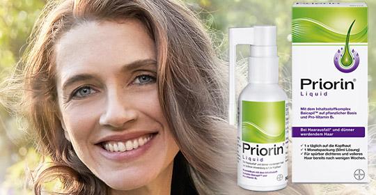 Priorin Liquid reduziert Haarausfall und dünner werdendes Haar.