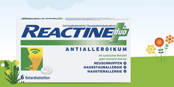 Reactine duo ist die einzige Kombination von Cetirizin mit Pseudoephidrin.