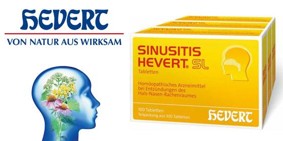 Sinusitis Hevert: Bei Erkrankungen des Hals-Nasen-Rachenraumes und der Nasennebenhöhlen.