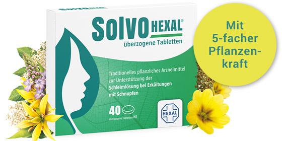 SolvoHEXAL – Der pflanzliche Schleimlöser mit 5-facher Pflanzenkraft!