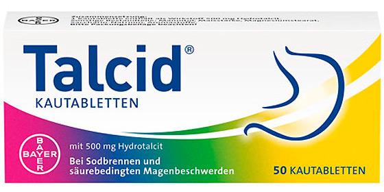 Talcid® Kautabletten lindern Sodbrennen und säurebedingte Magenbeschwerden