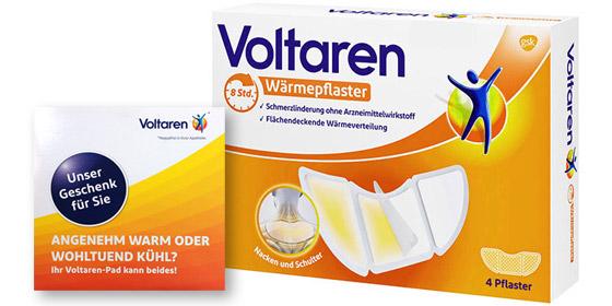 Nur solange Vorrat reicht: Voltaren Wärmepflaster Nacken und Schulter 4 St + gratis Voltaren-Pad!