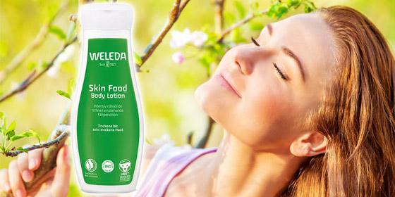 Die intensiv nährende und feuchtigkeitsspendende Körperlotion: Weleda Skin Food.